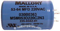 Liftmaster Garage Door Opener Master Capacitor Model 30B363